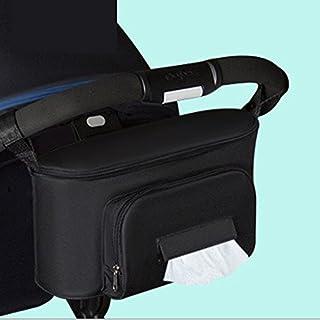 techsmile Baby Kinderwagen Organizer Storage mit Becherhalter | Universal alle Kinderwagen–Regenschirm doppelte Kinderwagen Organizer Buggy Aufbewahrung Konsole Tasche
