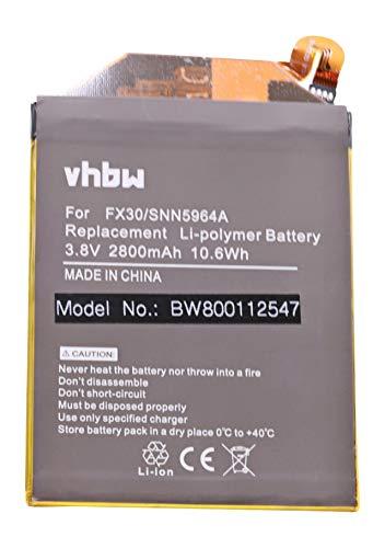 vhbw Li-Polymer Batteria 2800mAh (3.8V) per cellulari e smartphone Motorola Moto X Pure Edition, Moto X Style sostituisce FX30, SNN5964A.