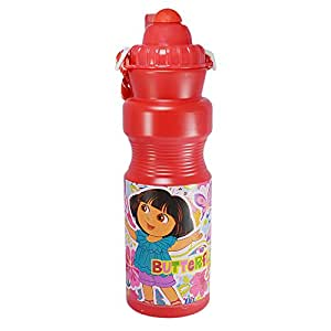Saamarth Impex Disney Dora Print Mark Red Color Sipper Water Bottle For Multi Purpose Use SI-4500