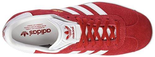 adidas Gazelle, Baskets Homme Rouge (Scarlet/ftwr White/gold Met.)