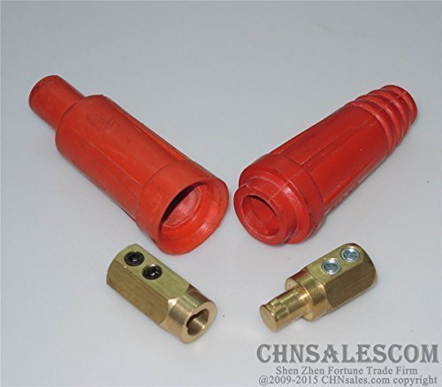 CHNsalescom 160A-250A Welding Cable Rapid Connector Red