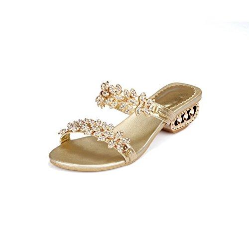 Balamasa, Sandales Femme Gold