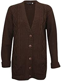 Women's Long Sleeve Button Chunky Cable Knit Cardigan