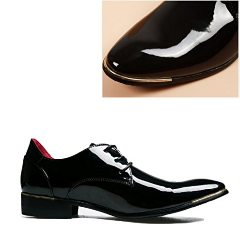 Cuir Hommes Printemps Automne Noir Mode Confortable Basse Top Casual Formel Derby Oxford Mocassins Chaussures Black