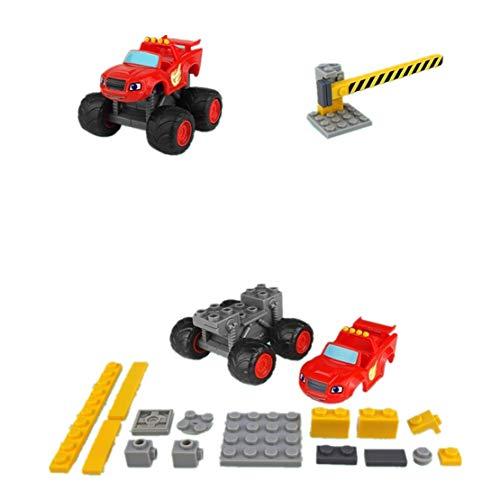 SHYYTYOU Blaze The Monster Machines Fahrzeug, Jungen und Mädchen Spielzeug Brecher LKW Fahrzeuge, Blaze Car - Mädchen, Monster-lkw-spielzeug