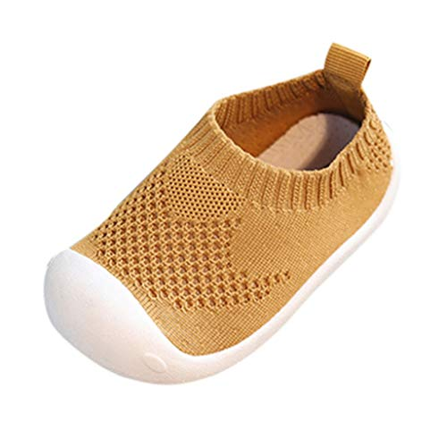 Haughtily Kleinkind Kleinkind Kinder Baby Mädchen Jungen Candy Farbe Mesh Stricken Sandalen Sport Stretch Tuch Freizeitschuhe Brown Leopard Fleece