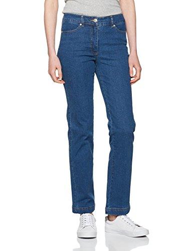 Damart Damen Jeans, Gerade Pantalon Perfect Fit Coupe Droite Bleu (Denim Stone)