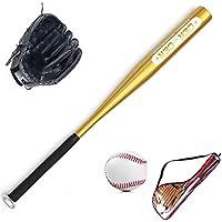 WHITNEY Juego De Béisbol para Niños Bate De Béisbol De 24 Pulgadas Y Béisbol Estándar De 9 Pulgadas Y Guante De Béisbol DE 10.5 Pulgadas,BlackGlove+GldBat