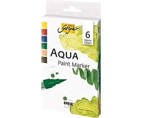 Set Aqua Paint Marker von Solo Goya C-KREUL Warmen Farben 6 Farben, CK 18185