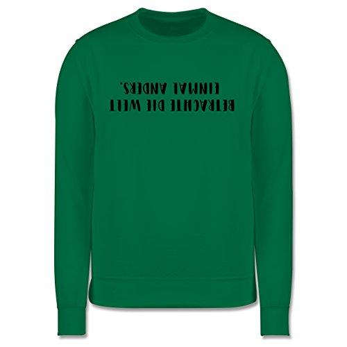 Statement Shirts - Betrachte die Welt einmal anders - Herren Premium Pullover Grün