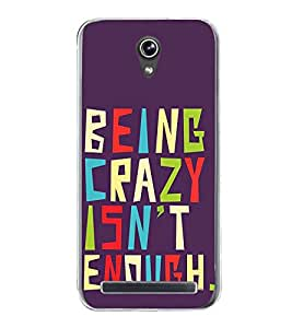 Life Quote 2D Hard Polycarbonate Designer Back Case Cover for Asus Zenfone Go ZC500TG (5 Inches)