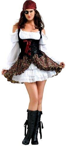Damen Kostüm, Piratin, 4 stk. (Buccaneer Kostüme Babe)