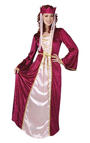 Fancy Ole - Damen Frauen Maxikleid Prinzessinnenkostüm , Rot, Größe - Viktorianische Ära Kostüm Frauen