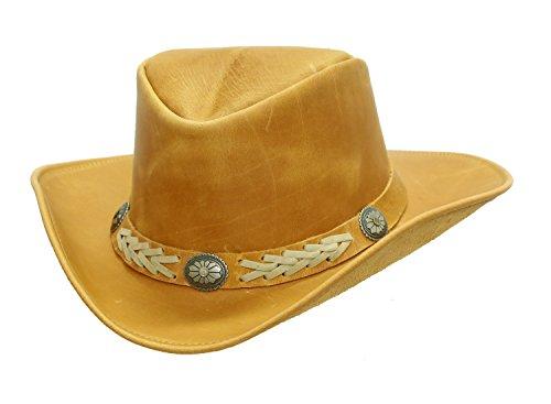Kakadu Traders Australia Cowboy | Western | Lederhut Arizona mit formbarer Krempe | American Style -