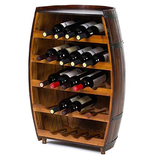 Wine Rack - ♦ JJ Weinregal aus Holz stehend Weinfass stabile Weinglasablage Regal Wohnkultur -0511 (größe : 48 × 29 × 80cm)