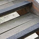 Antirutsch Treppenkantenprofil schwarz, Körnung Extra Stark, GFK, 70 x 2500 x 30 mm