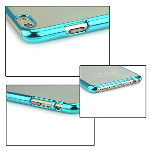 Pour IPhone 6 / 6S étui rigide de protection ultra doux ultra doux JING ( Color : Silver ) Blue