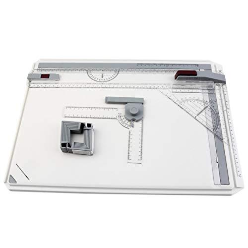 Banbie8409 A3 Zeichenbrett, A3 Zeichenbrett Tisch mit Parallelbewegung einstellbarem Winkel Art Zeichnung Werkzeugen -