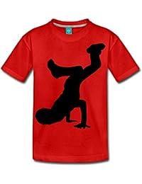 Breakdancer Silhouette Teenager Premium T-Shirt von Spreadshirt®