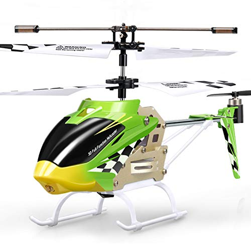 Zgifts Fernbedienung Helikopter mit Tail LED-Licht-Hobby RC Radio Plane Toys für Indoor Outdoor Kinder Kinder, Grün