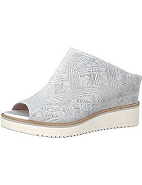 Tamaris 1-27200-20 100 Damen White Weiß Leder Sandale mit Touch-It Sohle