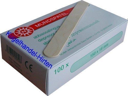 100 Holzspatel von Noba Verbandmittel verschiedene Größen (Groß (150 x 18 mm))