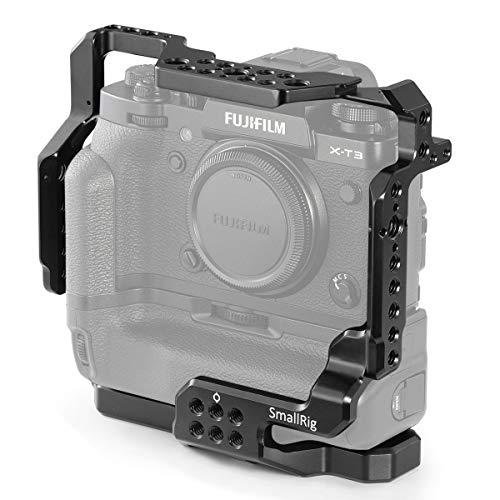 SMALLRIG Cage Jaula X-T3 para Fujifilm X-T3 con Battery Grip, Cage Jaula con Dos Puntos de Fijación para Fujifilm X-T3 con Battery Grip - 2229