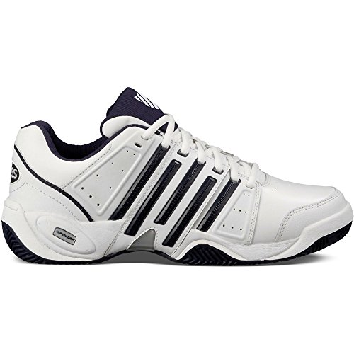 K-Swiss Performance Ks Tfw Accomplish Ltr-white/Navy/Silver-m, Baskets de tennis homme Blanco/Azul