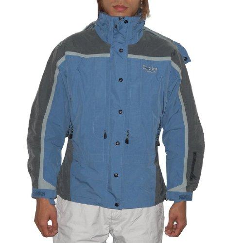 Bonus Pack: SOLSTICE Herren Hooded Winter Ski Snowboard Jacket & Goggles Medium Blau