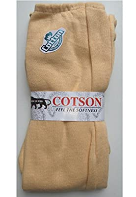 Cotson Women's Cotton Full Hand Sun Protection Gloves (Beige, Free Size) - Set of 2 Pair