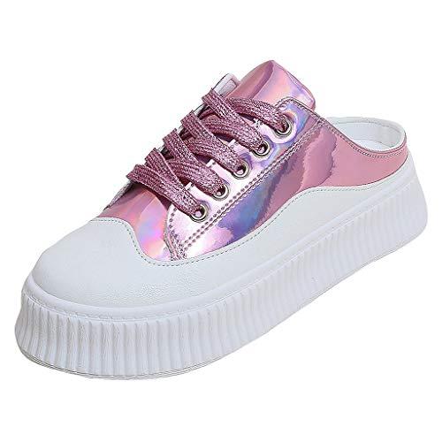 Damen Schuhe Vikky Platform Ribbon Sneaker Erwachsene Smash Sneaker Neue Mode Frauen Sommer Plattform Lace-up Runde Flache Schuhe Casual Pantoffel Laufen Sport Laufschuhe - Slouchy Boot-plattform