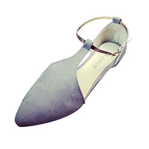 Transer ® Fashion femmes Point chaussures plates confortables coins Gris