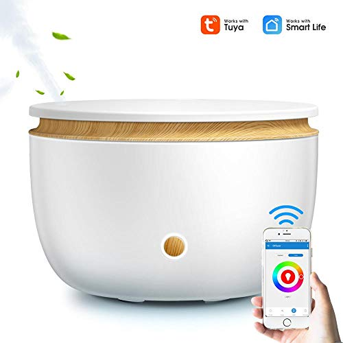 Duyifan Difusor de Aceite inalámbrico Inteligente WiFi Humidificador de Aire Aplicación...