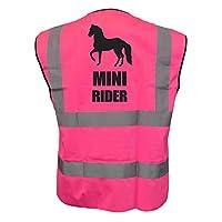 Childs Hi Vis MINI RIDER Hi Viz Vest Equestrian Safety Horse Riding reflective Plus a Brook Hi Vis UK Code for your next order