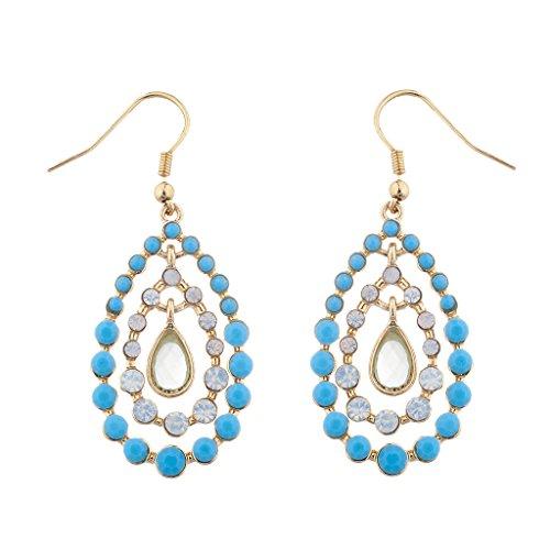 Lux Accessories oro a tre ripiani opale