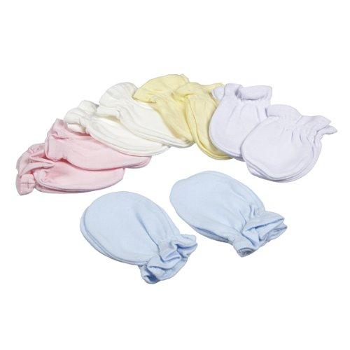 Just Too Cute – Manoplas antiarañazos para bebé (2 pares) Disponibles en 5 colores. 100 % algodón