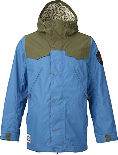 Burton - Giacca da snowboard Uomo MB Folsom, S, colore: blu ghiaccio/Verde, XS,  15004100420