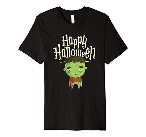 (Happy Halloween Süßes Monster T-Shirt | Herbst Tee)