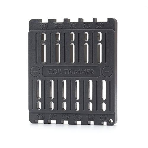 RUIYITECH Spulenschneidewerkzeug für RDA DIY Vape Draht Spule Lineal Trimmer Bauen elektronische Zigaretten Zubehör Schwarz