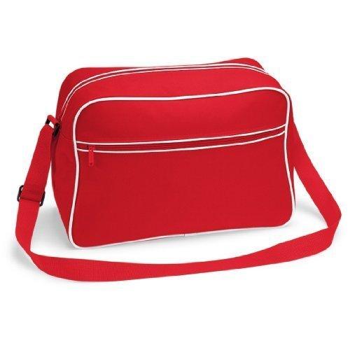 Shirtstown Retro Shoulder Bag, Umhängetasche, Schultertasche, Retro, Tasche classicredwhite