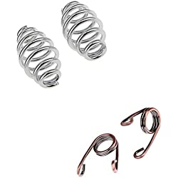 MagiDeal 2 Pairs Solo Seat Springs Spiral Torsion 3'' for Harley Bobber Chopper