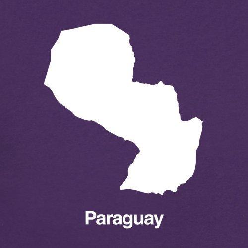 Paraguay / Republik Paraguay Silhouette - Damen T-Shirt - 14 Farben Lila