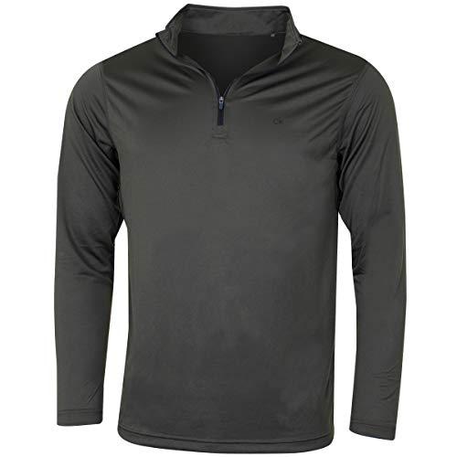 Calvin Klein Golf Herren Harlem 1/4 Zip Pullover - Khaki - S Calvin Klein Khaki