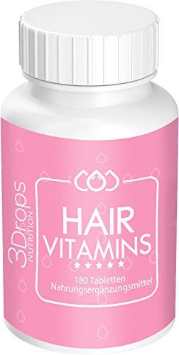 3 Drops Nutrition Hair Vitamins 94g (Wachstum Pillen Für Frauen)