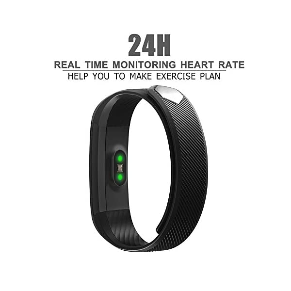 Fitness Tracker AndThere Fitness Watch Heart Rate Monitor Touch Screen Smart Bracelet Wearable Activity Tracker Pedometer Sleep Tracker Calorie Counter Fitness Wristband For Android And IOS Smartphone