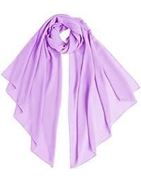 Bridesmay Femme écharpe Châle Foulard Etole Pashmina en Mousseline  unicolore pour Robe de Soirée Mariage Mariée 2331b340fc4