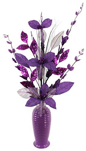 Morado Diamante Purpurina Artificial Flores Morado