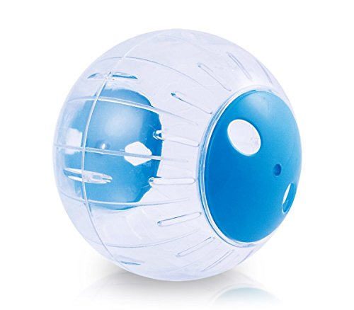 10578 Twister ball per criceti e piccoli roditori in plastica rigida 18.5ø. MEDIA WAVE store ® (Blu)