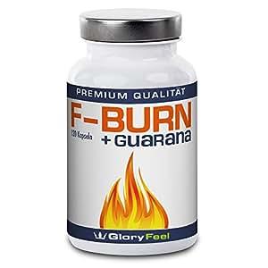 F-BURN - Der VERGLEICHSSIEGER 2017* - Grüner Tee plus Grüner Kaffee und Guarana Extrakt - 120 Vegane Kapseln - Ohne Magnesiumstearate – Nahrungsergänzung von GloryFeel
