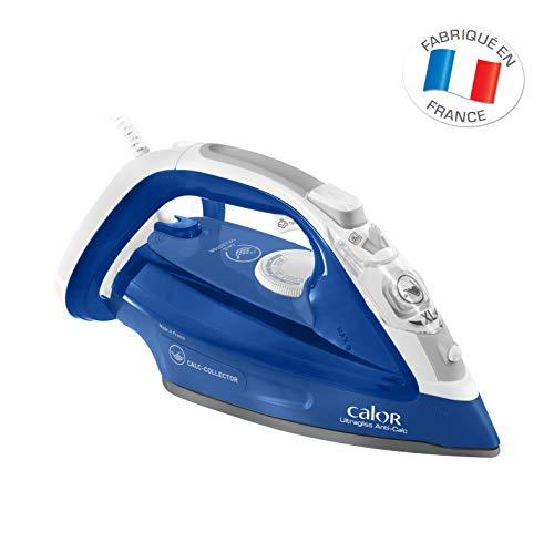 Calor FV4964C0 Ultragliss Anti-Calc Fer Vapeur - Collecteur de Calc - Semelle à la Technologie Durilium Airglide® - 2 500 W - Fonction Pressing 180 G/Min